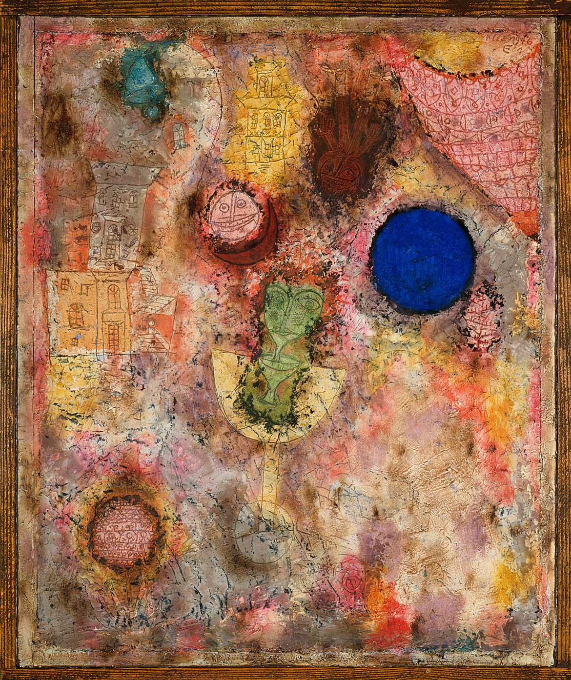 Paul Klee, Magic Garden, March 1926. Oil on plaster-filled wire mesh in artist's frame, plaster: 20 1/2 x 16 5/8 inches (52.1 x 42.2 cm); frame: 20 7/8 x 17 3/4 inches (53 x 45.1 cm)