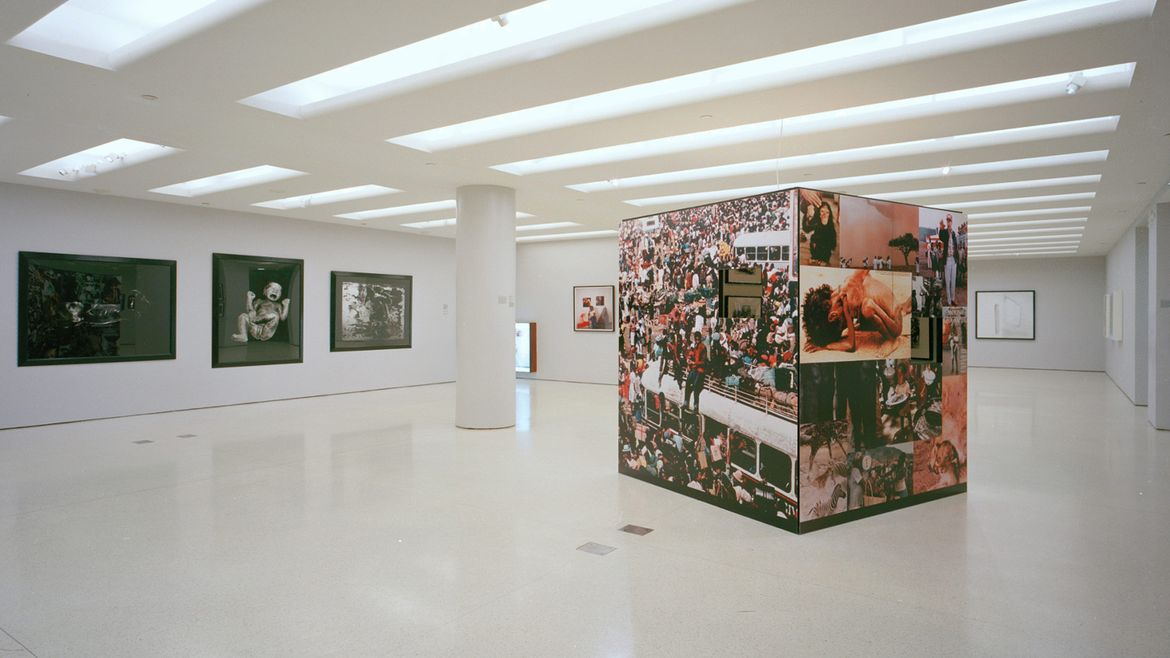 Installation view of In/sight: African Photographers, 1940 to the Present exhibition in 1996.