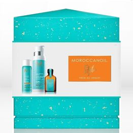 Moroccanoil Style From All Angles Holiday Gift Set Hairspray 75ml +amp; Curl Defining Cream 250ml +amp; Treatment 25ml