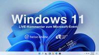 What's next for Windows: Live-Kommentar zur Microsoft-Keynote über Windows 11