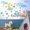 Κουκουβάγια σε κλαδί Παιδικά Αυτοκόλλητα τοίχου 160×79 cm (card size)