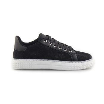 Γυναικεία sneakers με δαντέλα Μαύρο