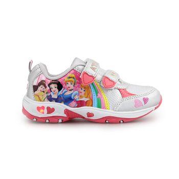 Παιδικά αθλητικά με πριγκίπισσες και φωτάκια Ασημί/Ροζ