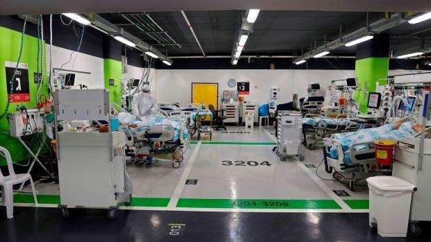 The coronavirus ward of the Rambam Health Care Campus in Haifa. Photograph: Jack Guez/AFP via Getty