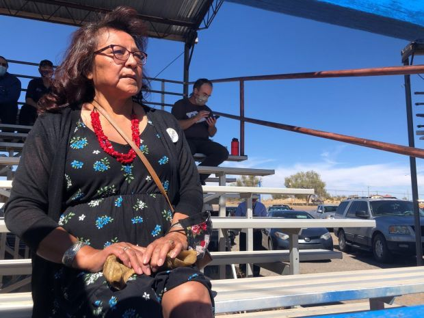 A supporter of Donald Trump from the Navajo Nation. Photograph: Suzanne Lynch