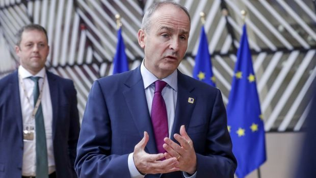 "Taoiseach Micheál Martin in Brussels: ""There hasn't really been sufficient movement."" Photograph: Oliver Hoslet/ EPA"