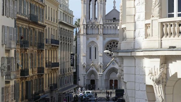 The Basilica of Notre-Dame de Nice. Photograph: Valery Hache/AFP