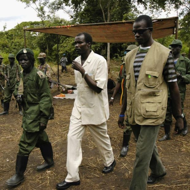 Joseph Kony arrives to take part in peace talks in 2006 in Southern Sudan. Photograph: Adam Pletts/Getty