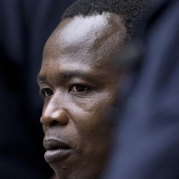 Dominic Ongwen at the International Criminal Court in The Hague. Photograph: Peter Dejong/ANP/AFP via Getty
