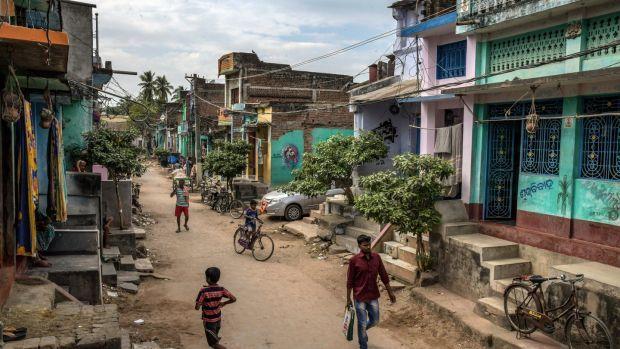 A street scene on November 10th in Ganjam. Photograph: Atul Loke/The New York Times