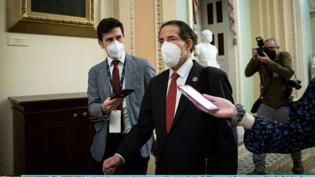 Lead House impeachment manager Jamie Raskin. Photograph: Drew Angerer/Getty Images