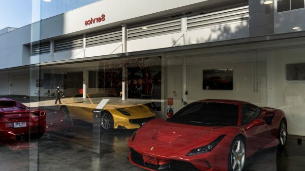 A Ferrari showroom near the Thong Lor area of Bangkok, where some of Thailand's wealthiest people live and party. Photograph: Adam Dean/The New York Times