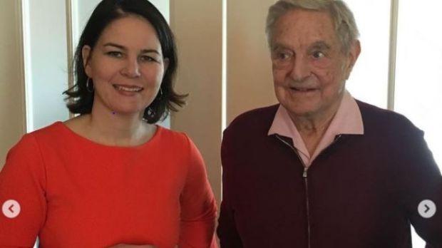 Annalena Baerbock with George Soros