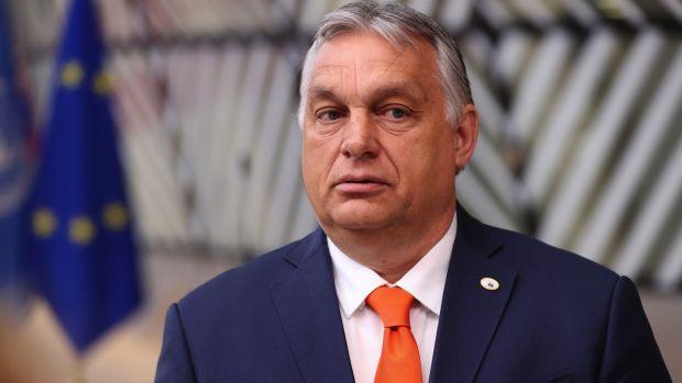 Viktor Orban, Hungary's prime minister, in Brussels on Thursday. Photograph: Dursun Aydemir/Anadolu/Bloomberg