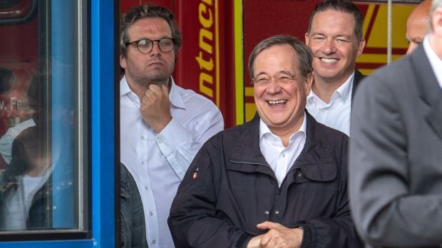 North Rhine-Westphalia's state premier, CDU leader Armin Laschet. Photograph: Marius Becker/Pool/AFP via Getty