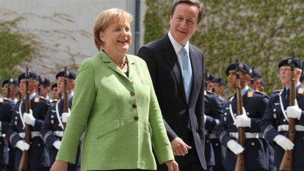 Merkel with David Cameron. Photograph: Michele Tantussi/Bloomberg