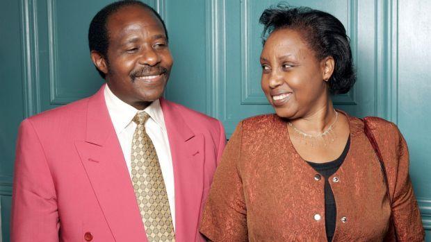 Paul Rusesabagina and his wife Tatiana in 2004. Photograph: J Vespa/WireImage