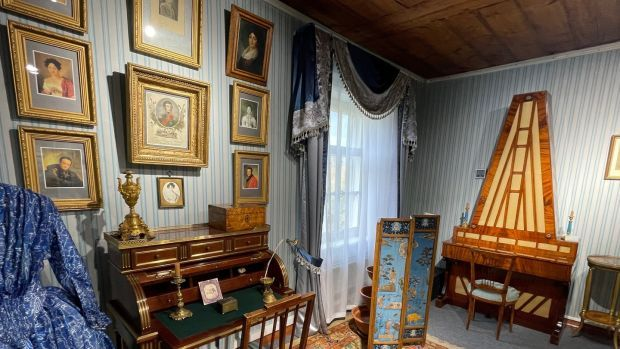 The Decembrist Museum in Irkutsk, Russia. It contains objects brought to Siberia by the aristocratic Maria Volkonsky when she followed her husband, a celebrated military officer, into exile after a failed 1825 uprising against autocratic Tsar Nikolai I. Photograph: Daniel McLaughlin