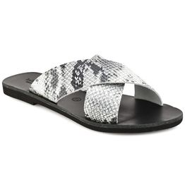 Δερμάτινη σαγιονάρα φίδι Tsakiris Sandals TS1001