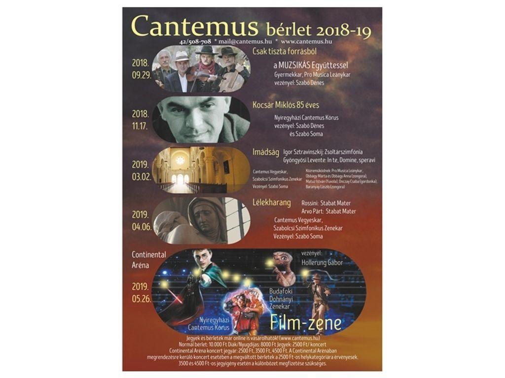 Cantemus kórusbérlet 2018-2019