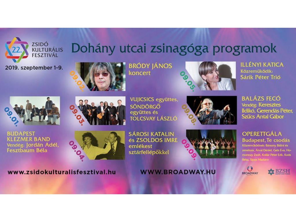 Zsidó Kulturális Fesztivál 2019: Bródy János koncert