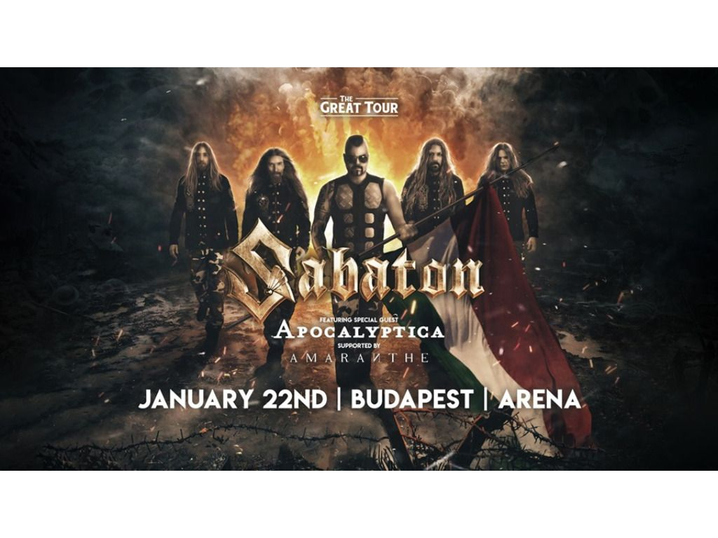 Sabaton - Budapest, Hungary - 22 Jan 2020, The Great Tour