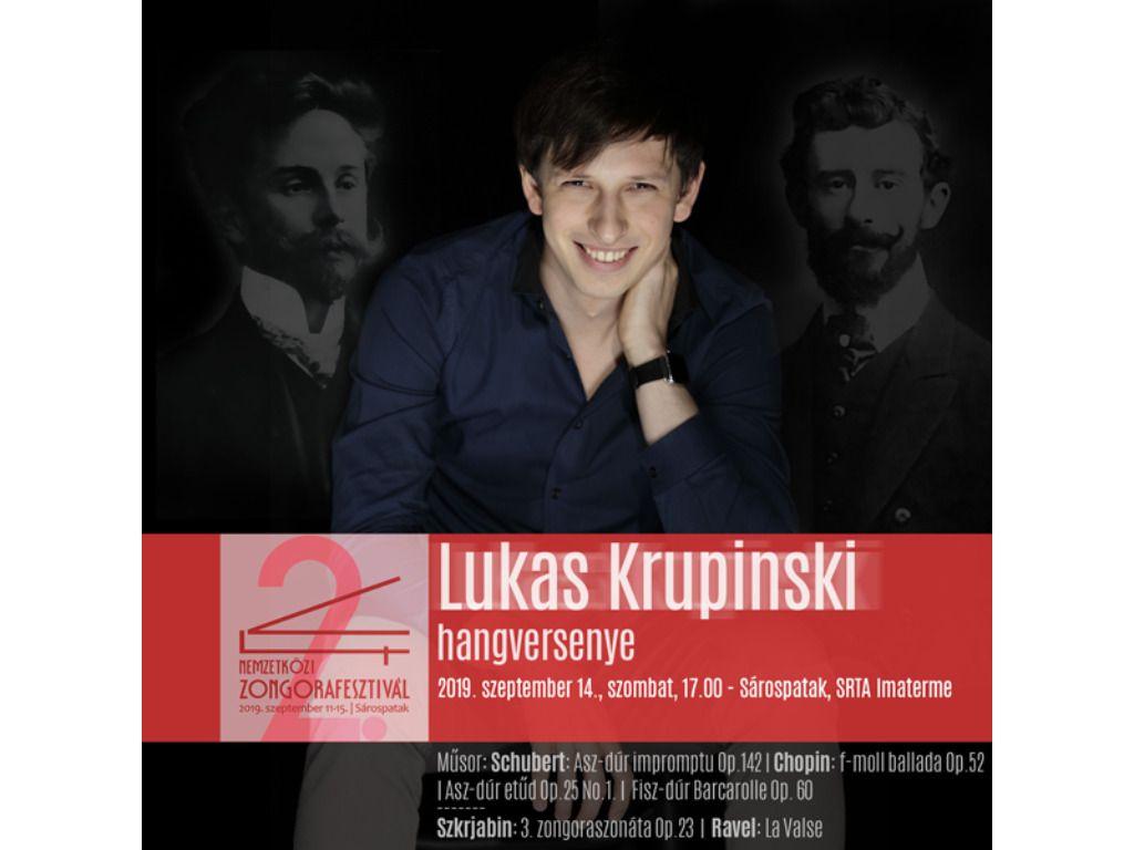 V4 Zongorafesztivál - Lukas Krupinski hangversenye