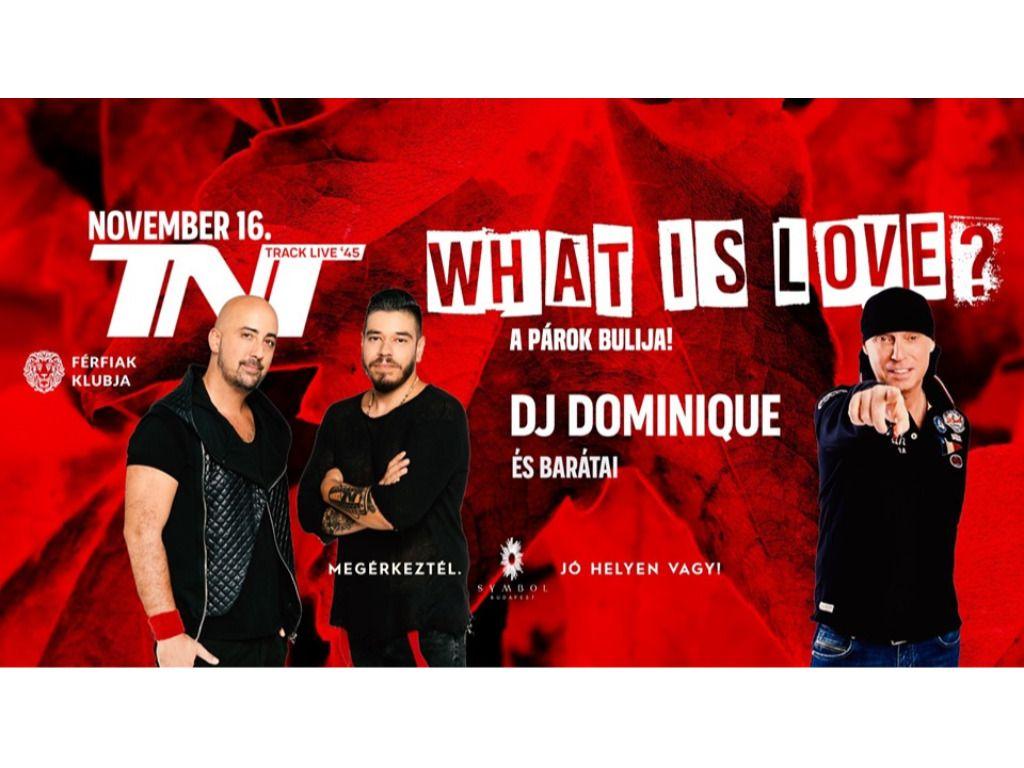 What is love? - A párok bulija! - TNT & Dj Dominique és barátai