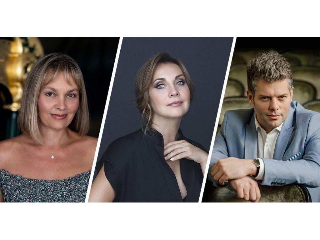 Rost Andrea (szoprán), Vigh Andrea (hárfa), Kelemen Barnabás (hegedű)