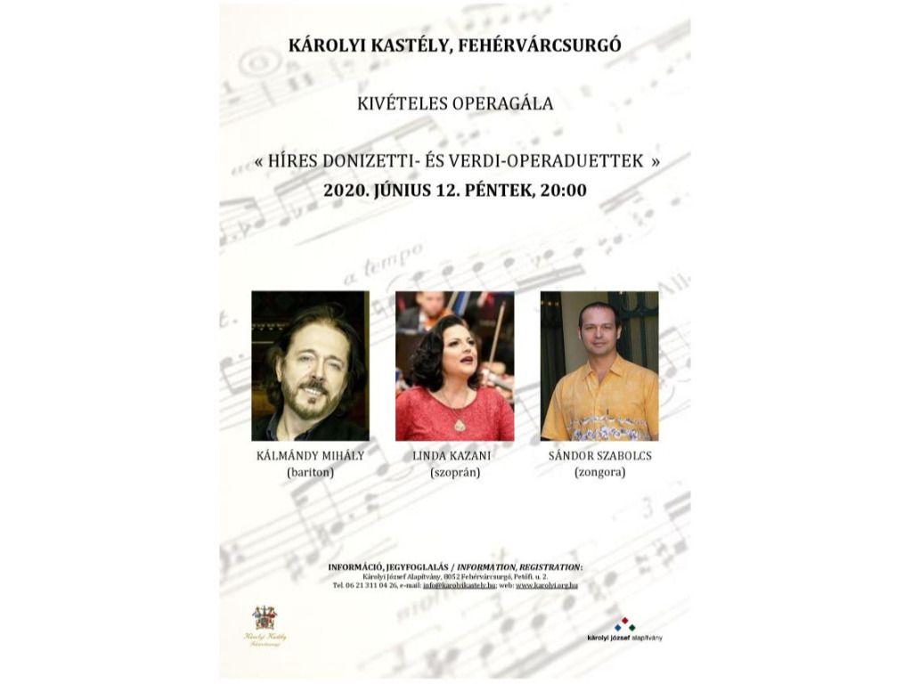 Kivételes Operettgála / Híres Donizetti -és Verdi operaduettek
