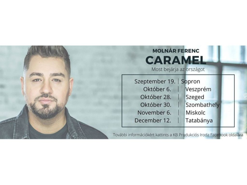 CARAMEL - Élőzenekaros koncert