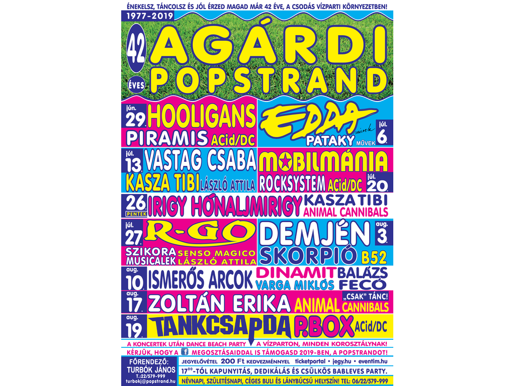 Agárdi Popstrand 2019 - MOBILMÁNIA - VIKIDÁL, ROCKSYSTEM,...