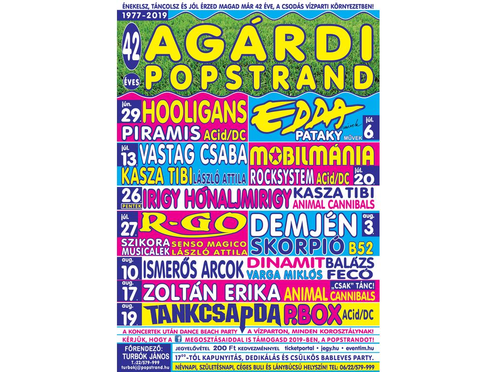Agárdi Popstrand 2019 - ZOLTÁN ERIKA, ANIMAL CANNIBALS