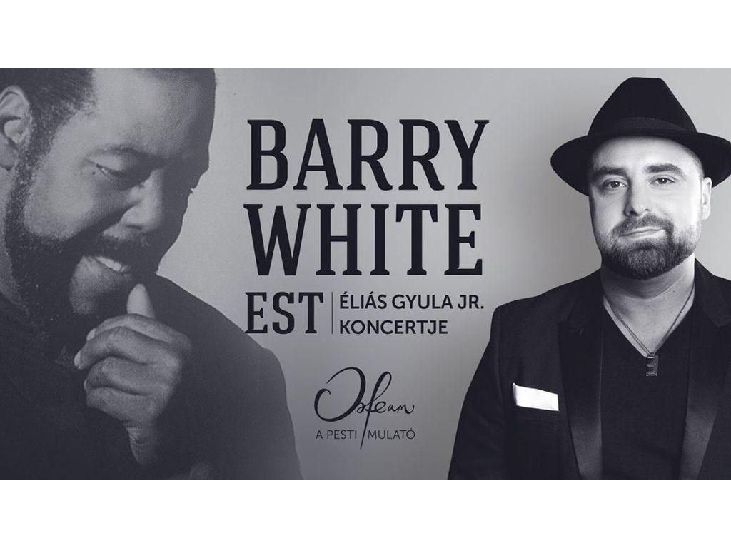 Koncert + Tapas tál: Barry White est – Éliás Gyula Jr. Koncertje