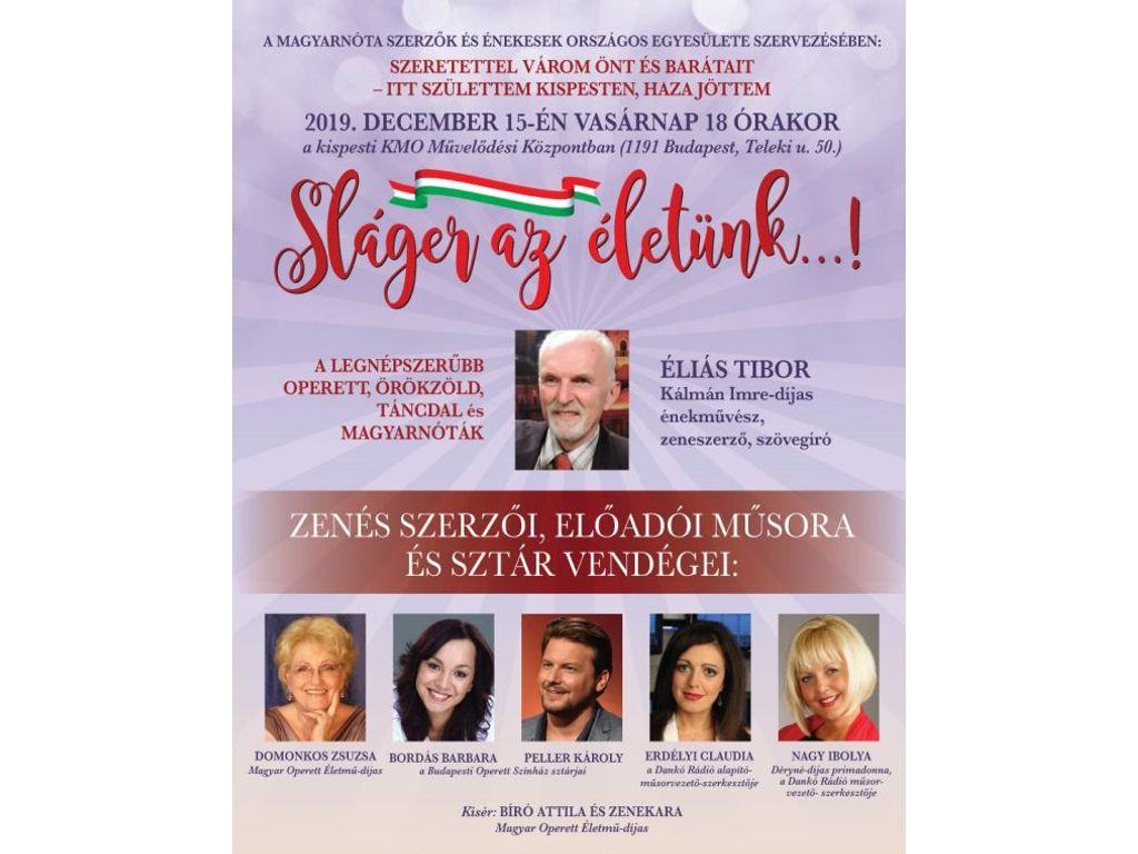 Sláger az életünk - Éliás Tibor zenés műsora