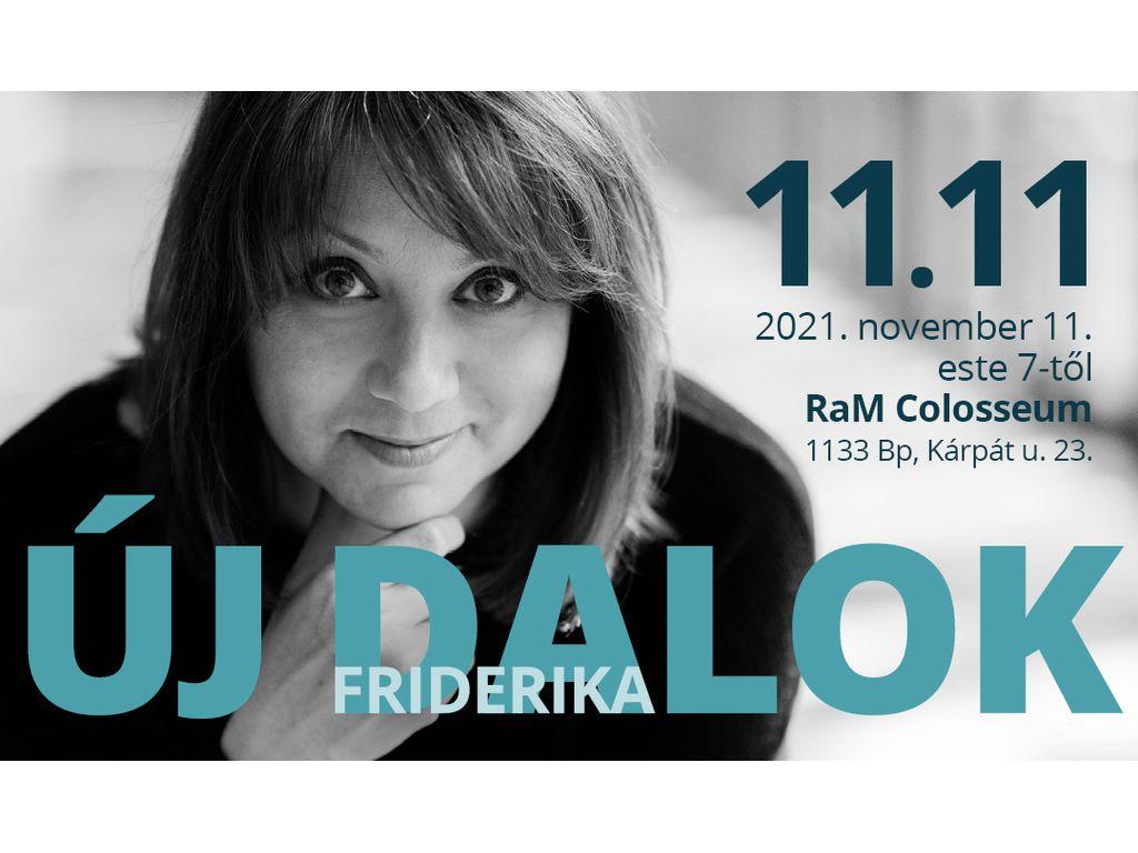 ÚJ DALOK - Friderika koncert