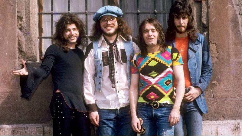 Fotó: MTI. Somló Tamás, Presser Gábor, Laux József, Barta Tamás (1974)