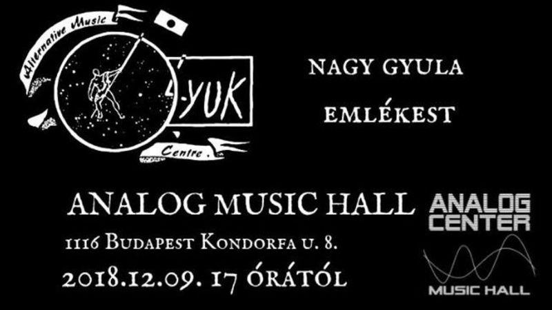 Nagy Gyula emlékére Fekete Lyuk-emlékbuli  lesz vasárnap