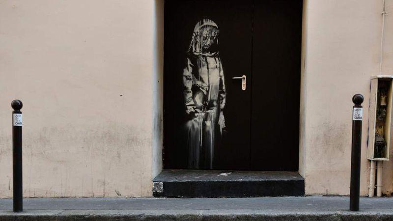 Ellopták Banksy graffitijét, amely a párizsi koncert áldozatainak állított emléket