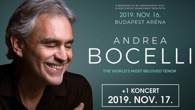 Duplázik Andrea Bocelli az Arénában!