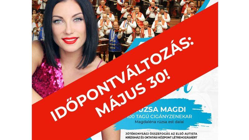 Rúzsa Magdi és a 100 Tagú Cigányzenekar jótékonysági koncertet ad az Erzsébet téren