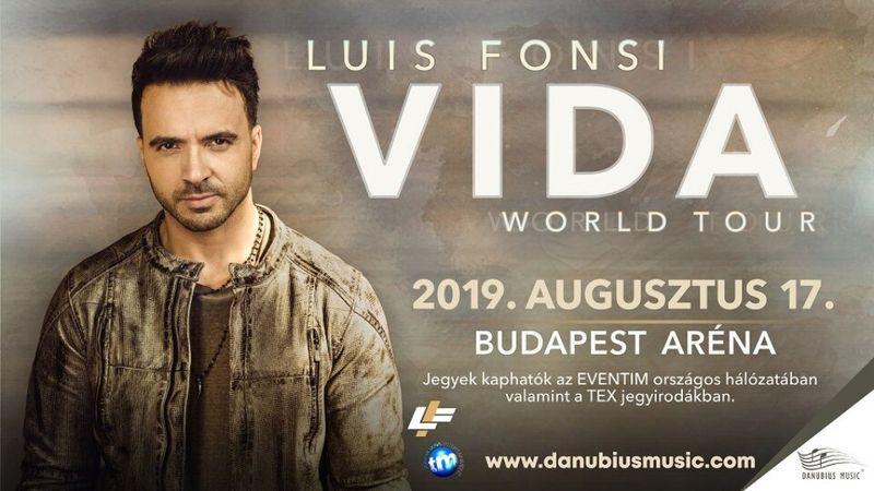 Luis Fonsi: Azt szeretném, ha mindenki velem együtt énekelne és táncolna Budapesten!