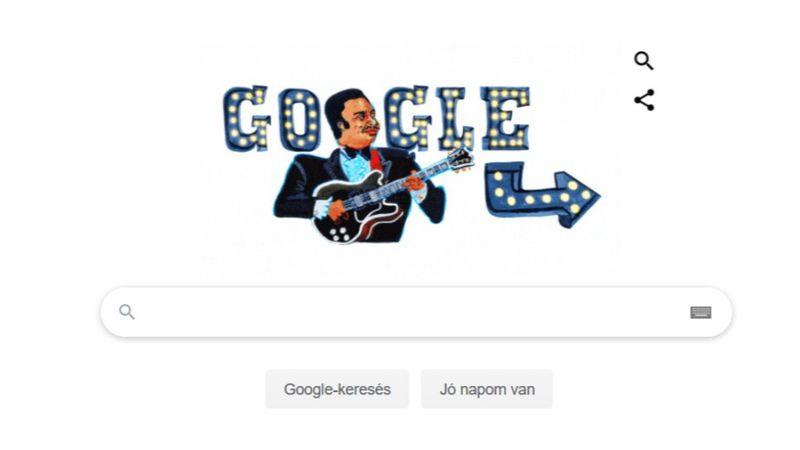 Ki gitározik ma a Google nyitóoldalán?