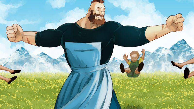 Illusztráció: Jesus Gormaz: Sound of Muscles (a teljes kép itt: www.artstation.com)