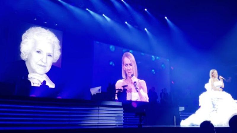 Néma csendben hallgatta több ezer ember, ahogy Céline Dion elbúcsúzott édesanyjától