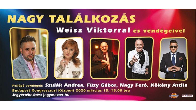 Weisz Viktor, Szulák Andrea, Nagy Feró és Kökény Attila egy színpadon