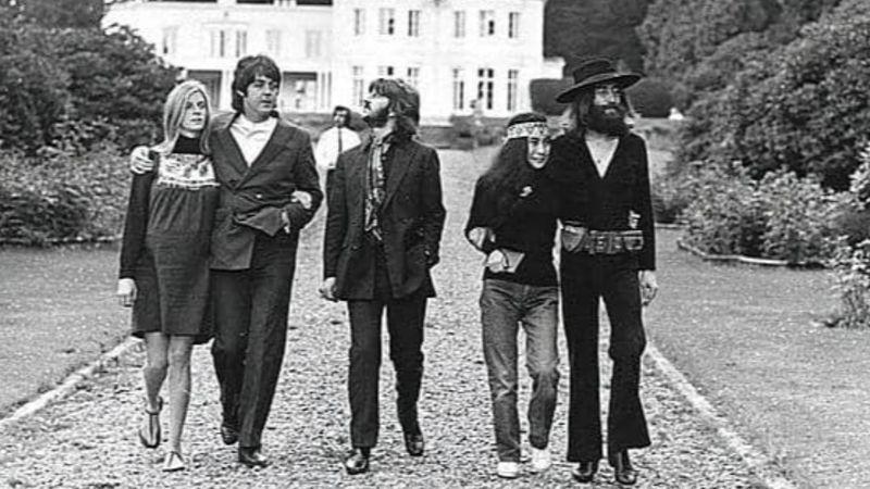 A zenekarról készült utolsó fotósorozat egyik képe ( 1969. augusztus, Ascot, Ethan Russell és Monte Fresco)