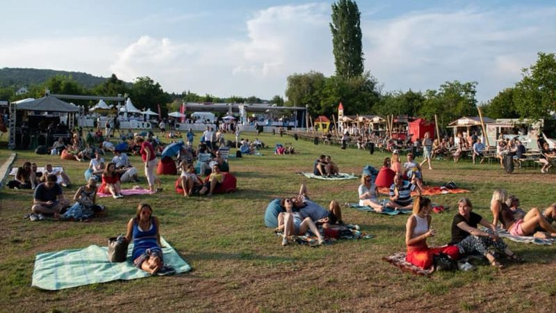 Tavaly még önként heylezkedtek el a nézők szellősen (Fotó: Paloznaki Jazzpiknik)