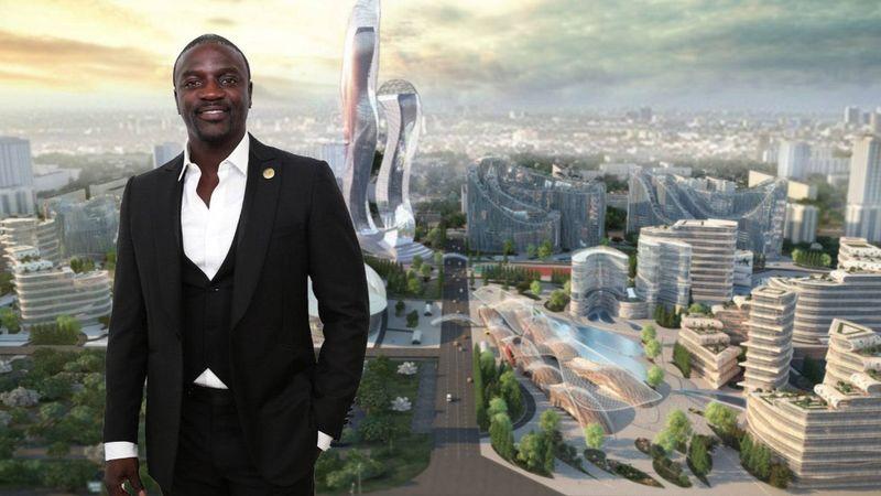 Magáról elnevezett várost épít Akon, a Jackoval duettező énekes