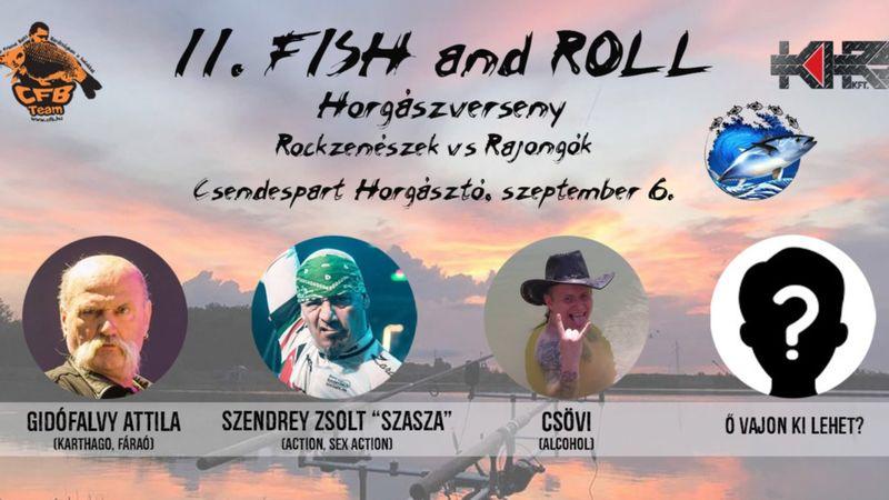 Rockenészek vs. rajongók: II. Fish and Roll horgászverseny